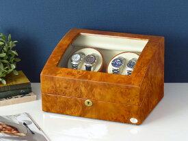 ワインディングマシーン 4本巻 ライトブラウン Abies(アビエス) ワインダー 4連 腕時計 自動巻き ワインディングマシン 2本 3本 4本 時計 収納ケース メンズ レディース 自動巻き機 ウォッチケース 時計ケース ギフト スタンド プレゼント
