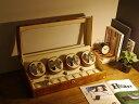 ワインディングマシーン 8本巻 ライトブラウン Abies(アビエス) ワインディングマシン 8連 腕時計 自動巻き ウォッチ…