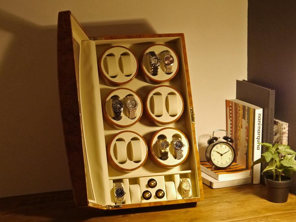 【あす楽対応】ワインディングマシーン 12本巻 薄茶 ライトブラウン Abies(アビエス) 12連 腕時計 自動巻き 時計 収納ケース メンズ レディース ワインディングマシン 時計ケース プレゼント ワインダー ギフト ウォッチスタンド ディスプレイ 父の日