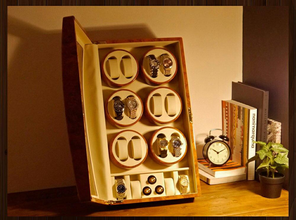 【あす楽対応】ワインディングマシーン 12本巻 薄茶 ライトブラウン Abies(アビエス) 12連 腕時計 自動巻き 2本 4本 時計 収納ケース メンズ レディース ケース 自動巻き機 ワインディングマシン 時計ケース プレゼント ワインダー ギフト ウォッチスタンド ディスプレイ