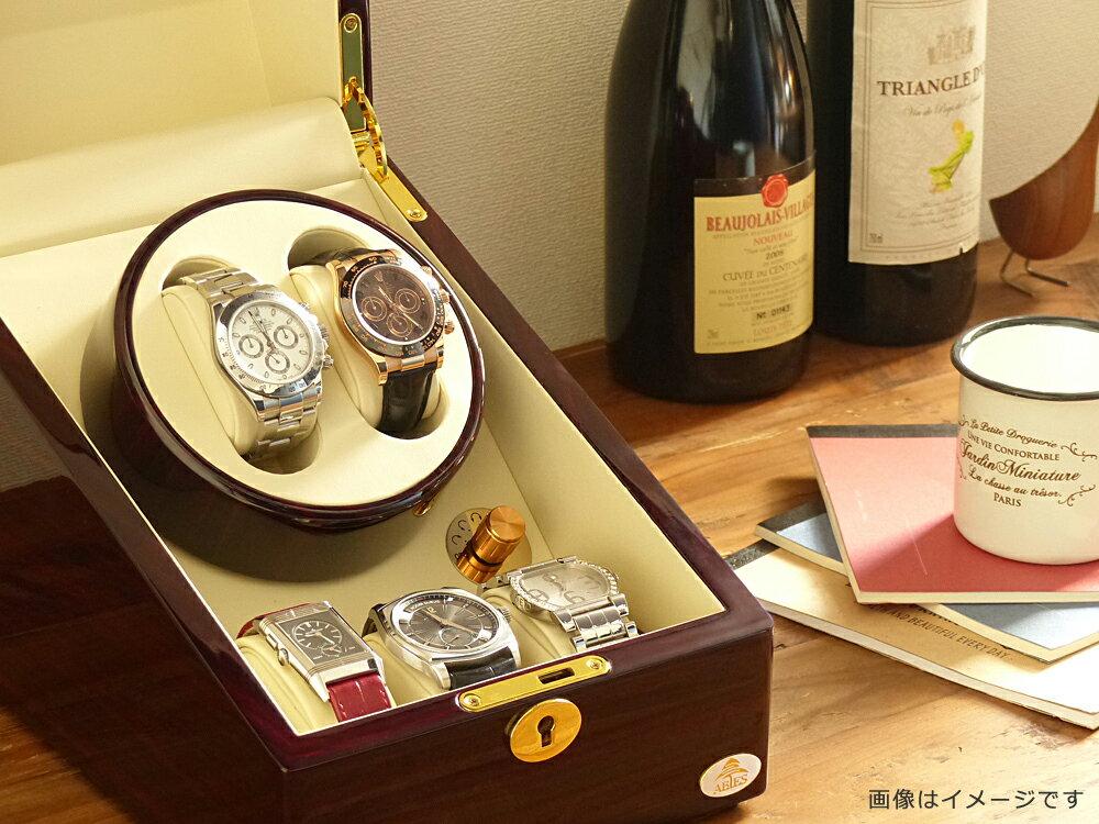 ワインディングマシーン 2本巻 ゼブラウッド Abies(アビエス) 2連 腕時計 自動巻き ワインディングマシン 2本 1本 4本 時計 収納ケース メンズ レディース ケース ウォッチケース 時計ケース ワインダー ギフト ウォッチスタンド プレゼント 父の日