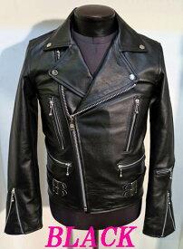 本革UKライダース ダブルライダース 革ジャン 牛革 黒ブラック ライダースジャケット メンズ 本革 本格仕様