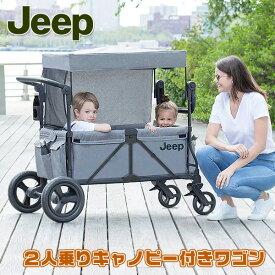 【在庫有り】【OUTDOOR】ジープ ラングラー ストローラー ワゴン 2人乗り キャリーワゴン 頑丈 キャリー コンパクト 収納 ピクニック アウトドア お散歩 荷物 Jeep Wrangler Stroller Wagon with Included Car Seat Adapter by Delta Children