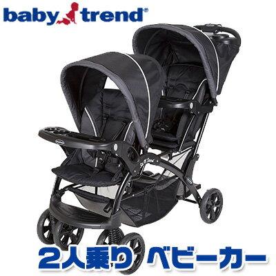【在庫有り】【送料無料】ベビートレンド エクリプス シット アンド スタンド ダブル ストローラー《オニキス》ベビーカー 二人乗り ツイン タンデム 2人乗り 縦型 兄弟 姉妹 双子 チャイルドシート Baby Trend Eclipse Sit 'n Stand Double Stroller - Onyx