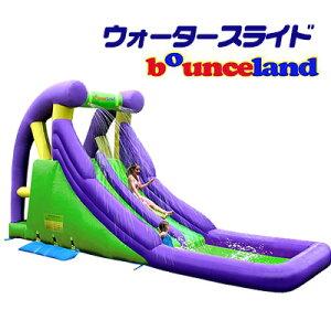 【在庫有り】【大型遊具】バウンスランド ダブル ウォータースライド with スプラッシュ プール スライダー 滑り台 すべり台 クライミング 水遊び 子供用 家庭用 Bounceland Double Water Slide with Spl