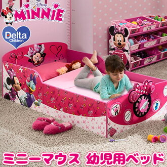 Delta Childrens Interactive Wood Toddler Bed Minnie Disney Mouse Kids Furniture Room