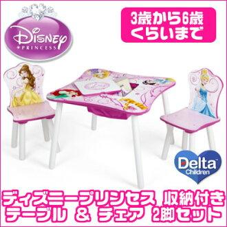 有三角洲迪士尼公主收藏的桌子&椅子2把安排灰姑娘铃白雪公主rapuntsueruarieruorora姬子服务家具儿童起居室椅子椅子椅子桌子书桌收藏整理