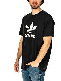 【ゆうメール便送料無料】adidas ORIGINALS アディダス オリジナルス Tシャツ メンズ レディース ユニセックス 半袖 ロゴ 綿100% ブランド 黒 ブラック カジュアル スポーツ ストリート TREFOIL 三つ葉 ペア リンクコーデ EKF76 CW0709 夏休み プレゼント ギフト ラッピング