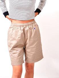 【ゆうメール便送料無料】CHAMPION チャンピオン ハーフパンツ レディース メンズ ユニセックス ショートパンツ 膝上 黒 白 ブランド スリム ブランド 無地 Cロゴ 刺繍 日本規格 短パン ショーパン ベーシック アウトドア C3-H518 夏休み プレゼント ギフト ラッピング