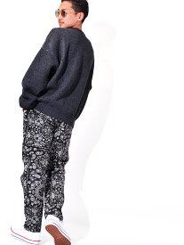 COOKMAN クックマン ペイズリー ブラックペイズリー パンツ ウエイターパンツ メンズ レディース ユニセックス 男女兼用 おしゃれ 大きいサイズ WAITER`S PANTS ストレート テーパード コックマン BLACK PAISLEY 231-11859 父の日 ギフト プレゼント ラッピング