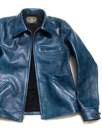 ダブル ヘリックス Double Helix ライダースジャケット レザージャケット メンズ レディース ユニセックス 本革 革ジャン Classic 1930s スポーツジャケット 藍染め 馬革 ホースハイド 日本製 アウター CLASSIC-1930S-I 180402 夏休み プレゼント ギフト ラッピング