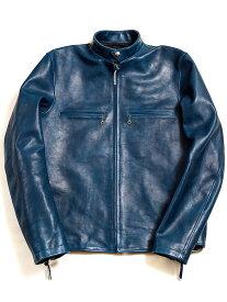 ダブル ヘリックス Double Helix ライダースジャケット レザージャケット メンズ レディース ユニセックス 本革 シングル 革ジャン Single Legend 藍染め インディゴ 馬革 日本製 アウター SINGLE-LEGEND-I 181202 夏休み プレゼント ギフト ラッピング
