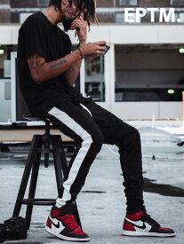 EPTM エピトミ パンツ トラックパンツ メンズ レディース ユニセックス BLACK/WHITE TECHNO TRACK PANTS ジャージー ジャージ ロングパンツ サイドライン アメリカ製 Made in USA ボトムス EP7587 夏休み プレゼント ギフト ラッピング