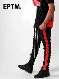 EPTM エピトミ パンツ トラックパンツ メンズ レディース ユニセックス BLACK/RED TECHNO TRACK PANTS ジャージー ジャージ ロングパンツ サイドライン アメリカ製 Made in USA ボトムス EP7712 夏休み プレゼント ギフト ラッピング