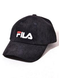 FILA フィラ キャップ レディース メンズ ユニセックス ブランド おしゃれ かわいい グレー ベージュ 帽子 キャップ FAKE SUEDE LOW CAP フェイクスエード ロー キャップ 6パネル ロゴ 刺繍 ペア リンクコーデ FILA-CAP-S 197-113703 クリスマス プレゼント ラッピング