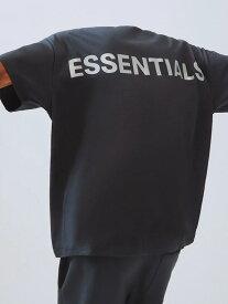 Fear of God essentials Tシャツ メンズ レディース ユニセックス 半袖 FOG ESSENTIALS F.O.G フィア オブ ゴッド フィアオブゴッド エフオージー エッセンシャルズ フォグ Boxy REFLECTIVE リフレクター ボクシ— 黒 REFLECTIVE-SS-B 夏休み ギフト プレゼント ラッピング