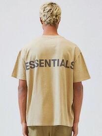 Fear of God essentials Tシャツ メンズ レディース ユニセックス 半袖 FOG ESSENTIALS F.O.G フィア オブ ゴッド フィアオブゴッド エフオージー エッセンシャルズ Boxy REFLECTIVE リフレクター ボクシ— ベージュ REFLECTIVE-SS-BE 夏休み ギフト プレゼント ラッピング