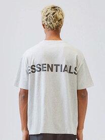 Fear of God essentials Tシャツ メンズ レディース ユニセックス 半袖 FOG ESSENTIALS F.O.G フィア オブ ゴッド フィアオブゴッド エフオージー エッセンシャルズ Boxy REFLECTIVE リフレクター ボクシ— グレー REFLECTIVE-SS-G 夏休み ギフト プレゼント ラッピング