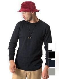 Hanes ヘインズ Tシャツ サーマル ロンT レディース メンズ ユニセックス 長袖 ロングTシャツ 無地 シンプル パックTシャツ サーマルT ラウンドカット タグレス クルーネック 丸首 インナー 下着 HM4-G501 運動会 文化祭 学園祭 ダンス