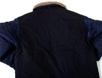 ファッション,メンズ,コーディネート,トップス,ボトムス,通販,ヒューストン,ゴールド,HOUSTON,GOLD,N-1,メンズ,レディース,ユニセックス,大きいサイズ,中綿,ジャケット,アウター,日本製,ミリタリー,デッキジャケット,海軍,NAVY,無地,HG005X