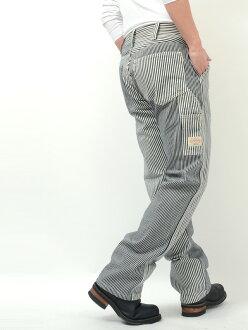 Kojima jeans KOJIMA jeans denim multi-hickory stripe painter underwear work RNB-1084H