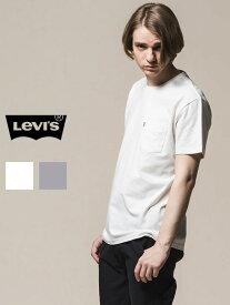 【ゆうメール便送料無料】LEVI'S リーバイス Tシャツ レディース メンズ ユニセックス 半袖 ブランド 無地 白 綿100% ポケT ポケットTシャツ LEVIS Levi's ダンス 練習着 ジム フィットネス ストリート ルームウェア 部屋着 29813 敬老の日 ギフト プレゼント ラッピング