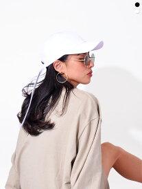 MACK BARRY マクバリ— 帽子 キャップ レディース メンズ ブランド 無地 韓国 大きめ おしゃれ かわいい MACK LONGSTRAP CURVE CAP ロングストラップ LONGSTRAP-CAP 父の日 ギフト プレゼント ラッピング