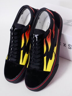 REVENGE X STORM revenge X storm sneakers men gap Dis unisex-limited model REVENGESTORM revenge storm BLACK FLAME low-frequency cut canvas suede shoes shoes Ian Connor Ian Conner Kanye West Kanie waist VANS/ vans system REVENGE-BBF