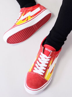 Vans system street REVENGE-LRF of REVENGE X STORM revenge X storm sneakers men gap Dis unisex REVENGESTORM revenge storm FLAME low-frequency cut canvas suede shoes shoes Ian Connor Ian Conner Kanye West Kanie waist VANS origin