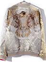 SATORI さとり スカジャン メンズ レディース ユニセックス 大鷲 イーグル 羽 満月 ピンク リバーシブル 刺繍 和柄 ジャケット アウター SUKAJAN スーベニアジャケット GSJR-018 夏休み ギフト プレゼント ラッピング