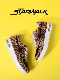 STARWALK スターウォーク STAR WALK スター ウォーク スニーカー メンズ レディース ユニセックス ブランド shoes 靴 シューズ ローカット EPISODE 2 ハラコ ブラウン レオパード ゼブラ 豹柄 シューティング スター 星 ストリート 限定 モデル SW1811-10036