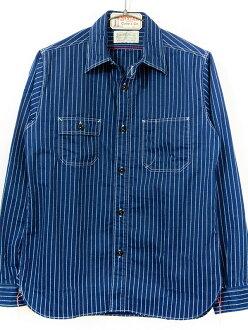 シュガーケーン 셔츠 긴 소매 워 밧 슈 스트라이프 워크 SUGAR CANE 동양 SC25551Afs04gm
