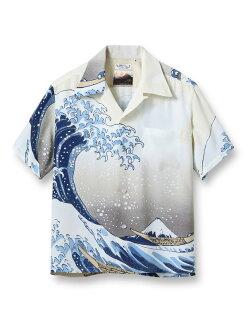 在太阳冲浪SUN夏威夷衬衫半袖葛飾北斎神奈川沖浪裏富嶽三十六景東洋SS37651预订销售时