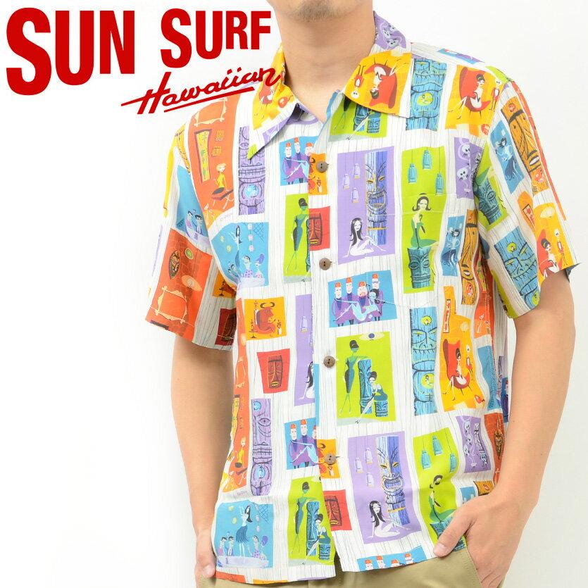 サンサーフ SUN SURF アロハ シャツ TIKI PARADISE by SHAG KEONI OF HAWAII 東洋 SS37654 母の日 ギフト ラッピング プレゼント