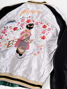 TAILOR TOYO テーラー東洋 スカジャン 2019 メンズ レディース ユニセックス 刺繍 ブランド 大きいサイズ 舞妓 × WHITE EAGLE 1950年代中期 富士山 桜の花 ホワイトイーグル 鷲 リバーシブル 東洋エンタープライズ TT14465-190 バレンタインデー プレゼント ラッピング