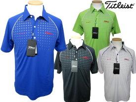 Titleist/タイトリストドットプリント半袖ポロシャツ/TSMC1414高機能/ウエア