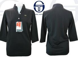 セルジオ・タッキーニ 7分袖シャツ(SFK851)汗ジミ防止/ブラック/レディース【→更にプライスダウン!】