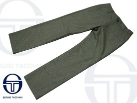 セルジオタッキーニウールパンツ(SMP957)カーキ/ツイード【メンズ】