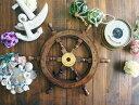 木製 ラット 舵輪 マリン雑貨 インテリア 帆船 置物 オブジェ 海 プレゼント ギフト