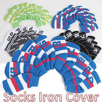 【 Socks Knit Iron Cover 】【番手別 10本組】【全4色】 ソックス ニット アイアン カバー 10個入り 【番手表示あり】【メール便規約同意でメール便無料】【smtb-k】【kb】 02P05Nov16