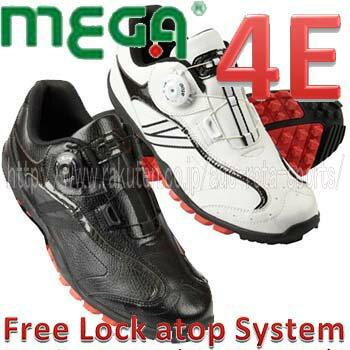 【atop ダイヤル フリーロック】MEGA GOLF ( メガゴルフ ) スパイクレス ゴルフシューズ 【MG-017】 02P05Nov16