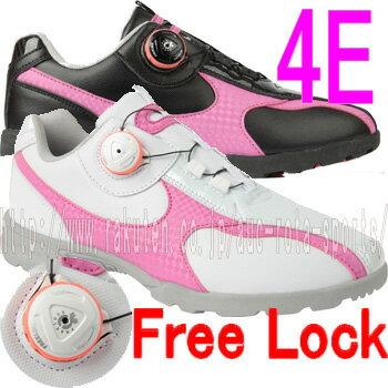 【在庫処分価格】【ダイヤル フリーロック】【レディース】【MEGA Walking Spikeless Golf Shoes】 メガ スパイクレス ウォーキング スパイクレス ゴルフシューズ 【MG-66】 02P05Nov16