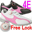 【在庫処分価格】【ダイヤル フリーロック】【レディース】【MEGA Walking Spikeless Golf Shoes】 メガ スパイクレス…