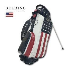 BELDING キャディバッグ メンズ 白 紺 赤 hbcb850136【 あす楽 送料無料 】[ ベルディング ゴルフ スタンド 8.5インチ 5分割 サンバード 2.0 スタンドバッグ アメリカンフラッグ AMERICAN FLAG ゴルフバッグ キャディバック かっこいい おしゃれ golf 高級 レア 即納 ]