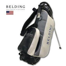BELDING キャディバッグ メンズ 紺 白 グレー hbcb850138【 あす楽 送料無料 】[ ベルディング ゴルフ スタンド 8.5インチ 5分割 サンバード 2.0 スタンドバッグ ゴルフバッグ キャディバック かっこいい おしゃれ golf 高級 レア 即納 ]