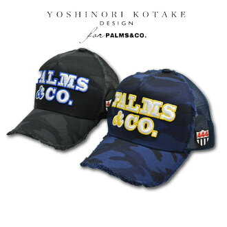 YOSHINORI KOTAKE DESIGN for PALMS&CO. Cap hat men camouflage / black / dark blue man and woman combined use 83yk9ca02100u [latest present immediate delivery Christmas when Yoshinori Kotake design four palms and Coe hat cap mesh fashion is cool]