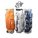 ZOY キャディバッグ メンズ 白 オレンジ 紺 749862【 あす楽 送料無料 】[ ゾーイ ゾイ ゴルフウェア 9インチ 9型 6分…