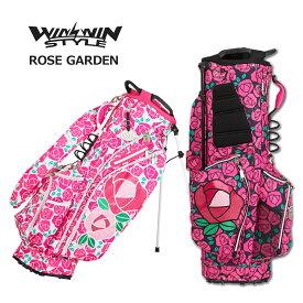 ウィンウィンスタイル キャディバッグ スタンド式 レディース 黒 白 ピンク cb-647cb-648【 あす楽 送料無料 】 [ WINWIN STYLE ゴルフ 9インチ ROSE GARDEN LIGHT WEIGHT STAND BAG レア プレゼント ギフト ウィンウィン おしゃれ キャディーバッグ 軽量 golf 限定 ]