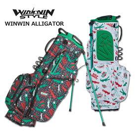 ウィンウィンスタイル キャディバッグ スタンド式 メンズ レディース 黒 白 cb-941cb-942【 あす楽 送料無料 】 [ WINWIN STYLE ゴルフ 9インチ 4分割 WINWIN ALLIGATOR新作 GOLF レア プレゼント ウィンウィン おしゃれ 限定 キャディーバッグ 軽量 かっこいい 限定 ]