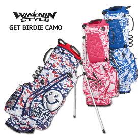 ウィンウィンスタイル キャディバッグ スタンド式 メンズ レディース 紺 白 赤 青 ピンク cb-949cb-950cb-951【 あす楽 送料無料 】 [ WINWIN STYLE ゴルフ 9インチ GET BIRDIE! STAND BAG レア プレゼント ウィンウィン おしゃれ キャディーバッグ 軽量 golf 限定 ]